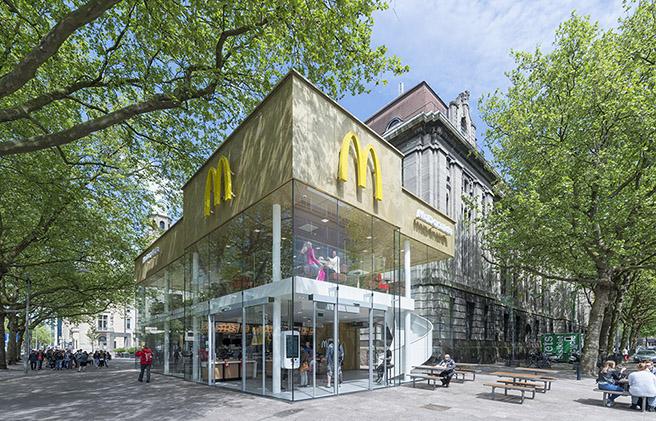 鹿特丹麦当劳分店焕然一新