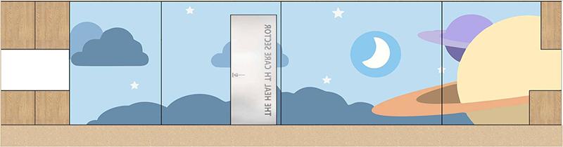 项目名称:医信儿科诊所 项目地点/Location 中国,深圳 建筑面积/Proportion 900  主要材料/Materials 木 人造石 胶地板 丙烯矿物颜料 设计施工/Design Time 2016.8 - 2016.--- 设计单位/Design Unit 深圳河渡建筑室内设计有限公司 业 主/Owner 深圳市医信科技有限公司 本案以安心、专业、温暖、科技为设计的核心思想。每个设计细节都很好诠释我们设计的初衷。功能结构规划采用围合感很强的弧形空间,避免出现尖锐的棱角使整个空间更有亲和力,
